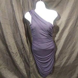 Sweet Storm Navy Blue One Shoulder Dress